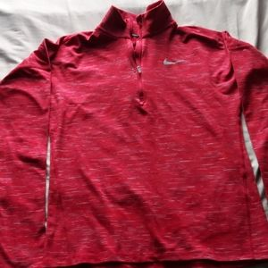 Red Dri Fit Nike Sports Top